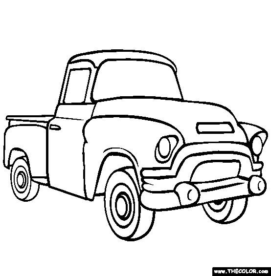Free coloring and drawings Pickup coloring Coloring page