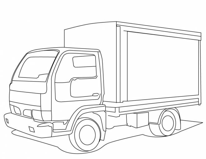 Free coloring and drawings Pickup truck Coloring page