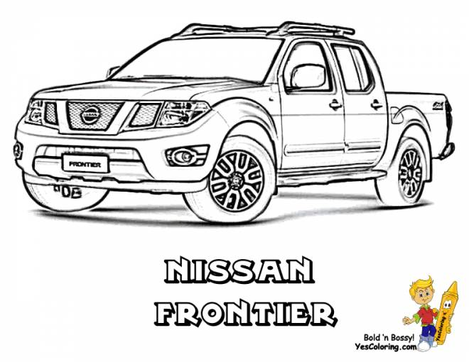 Free coloring and drawings Pickup truck Van Coloring page