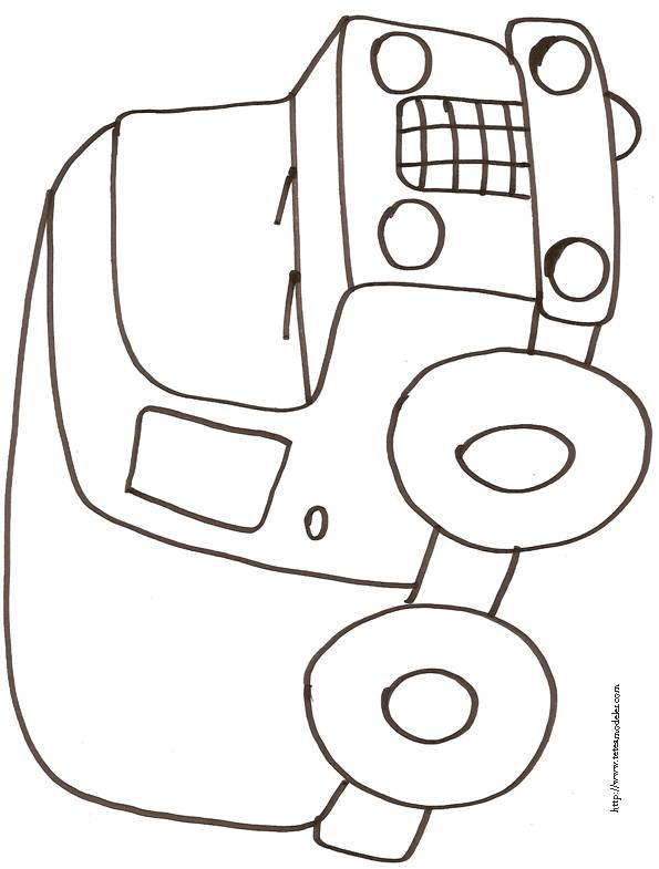 Free coloring and drawings Pickup Vehicule Coloring page