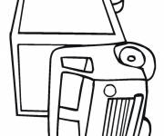 Free coloring and drawings Truck Illustrations Coloring page