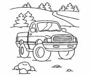 Free coloring and drawings Van landscape in nature Coloring page