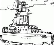 Coloring pages A military boat
