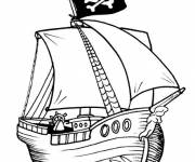Free coloring and drawings A Pirate Ship Online Coloring page