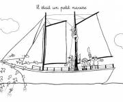 Coloring pages A small pirate ship