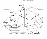 Coloring pages A small transport sailing vessel