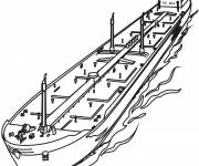 Coloring pages An Oil Boat