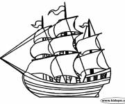 Coloring pages Antique sailing boat