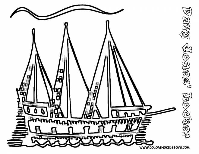 Free coloring and drawings Artistic ship Coloring page