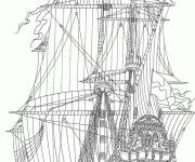 Coloring pages British antique ship