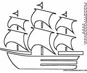 Free coloring and drawings Caribbean Pirate Ship to download Coloring page
