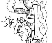 Coloring pages Cartoon ship