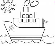 Coloring pages Color boat