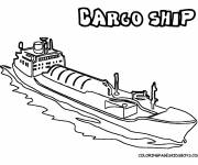 Coloring pages Commercial boat
