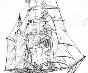 Coloring pages Concordia Canadian Sailing Ship
