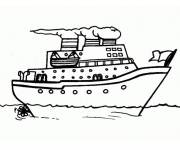 Free coloring and drawings Cruise ship Coloring page