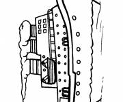 Coloring pages Cruise ship easy