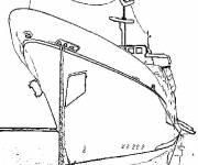 Coloring pages Docked boat