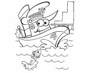 Coloring pages Funny boat