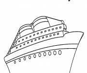 Coloring pages Huge cruise ship