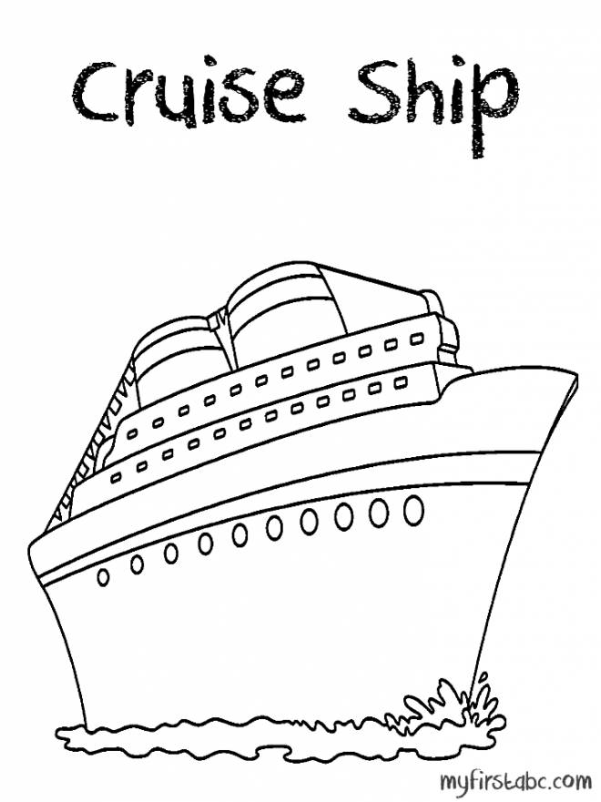 Free coloring and drawings Huge cruise ship Coloring page