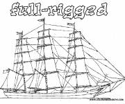Coloring pages Large Ancient Ship