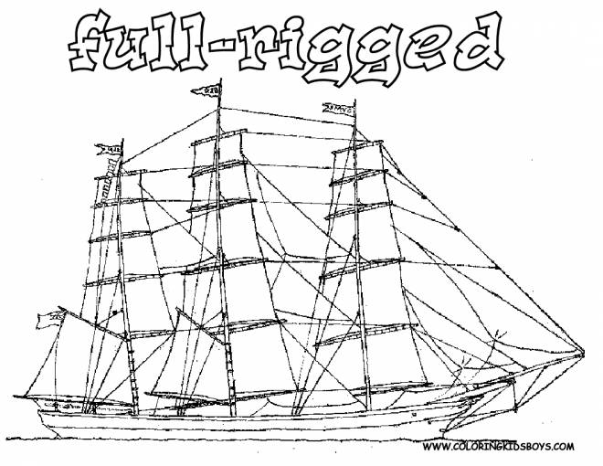 Free coloring and drawings Large Ancient Ship Coloring page