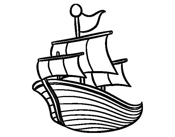 Free coloring and drawings Maternal fishing vessel Coloring page