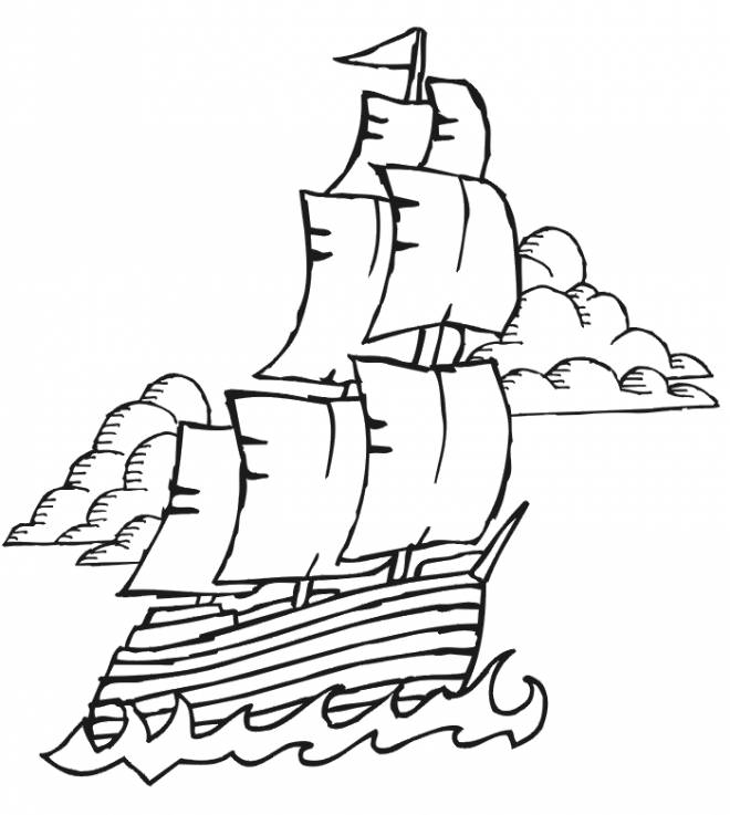 Free coloring and drawings Maternal ship Coloring page