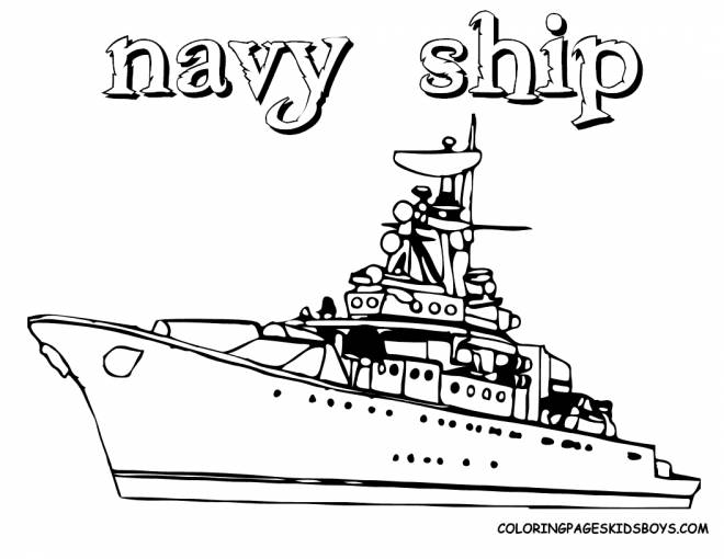 Free coloring and drawings Military ship to cut Coloring page