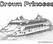 Coloring pages Realistic cruise ship