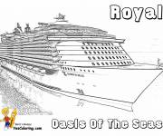 Coloring pages Royal cruise ship