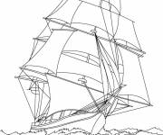 Coloring pages Sailing vessel to download