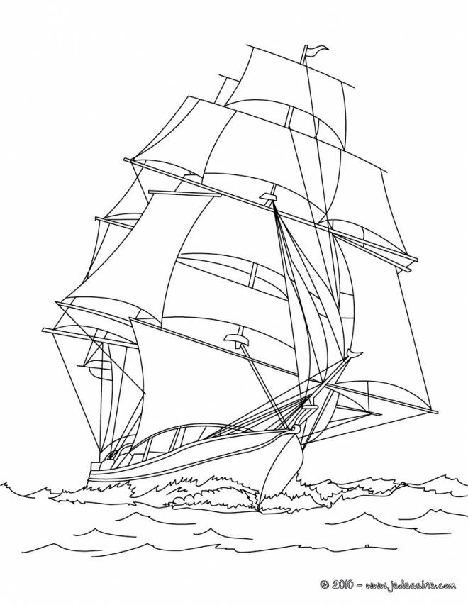 Free coloring and drawings Sailing vessel to download Coloring page