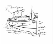 Coloring pages Ship and maritime transport