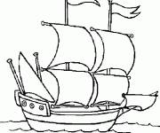 Coloring pages Stylized ship