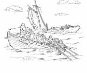 Coloring pages The sinking of a boat