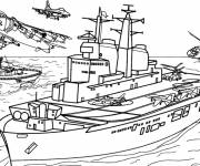 Free coloring and drawings Warship Coloring page