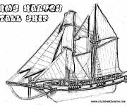 Coloring pages Wooden sailing ship
