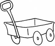 Coloring pages Easy wagon