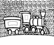 Coloring pages Locomotive and Wagon of a Steam Train