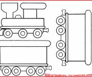 Coloring pages Locomotive and Wagons