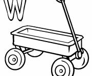 Coloring pages Wagon and The Letter W