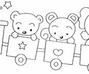 Coloring pages Wagon for child