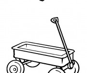 Coloring pages Wagon simple