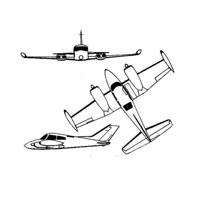 Free coloring and drawings Airplane online Coloring page