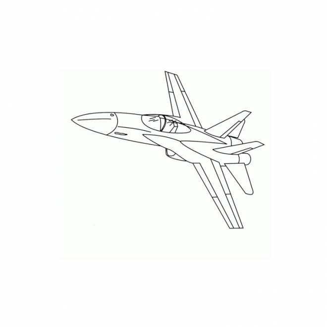 Free coloring and drawings Color fighter plane Coloring page