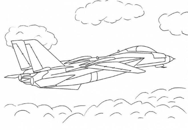 Free coloring and drawings Color fighter plane online Coloring page
