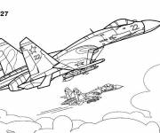 Coloring pages Cy-27 War Plane