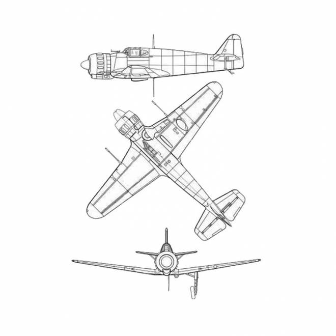 Free coloring and drawings Fast War Plane Coloring page